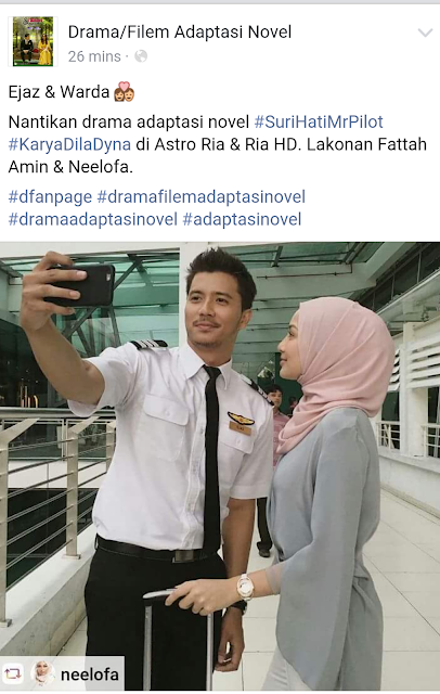 Neelofa Pegang Watak Warda Dalam Drama Adaptasi Novel Suri Hati Mr Pilot Karya Dila Dyna