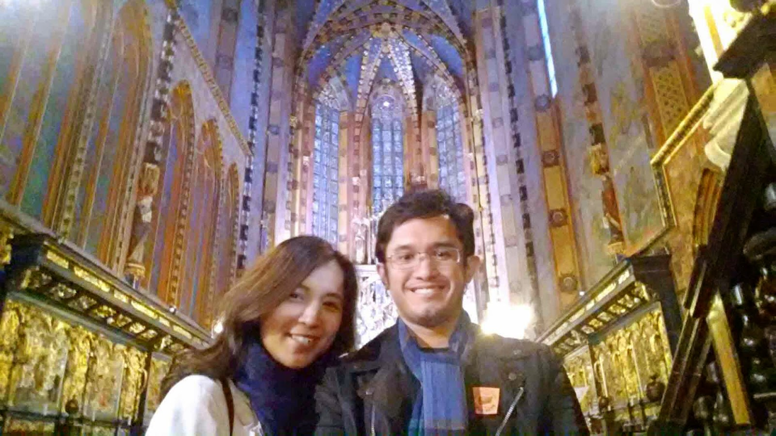 Selfie at St. Mary's Basilica Altar