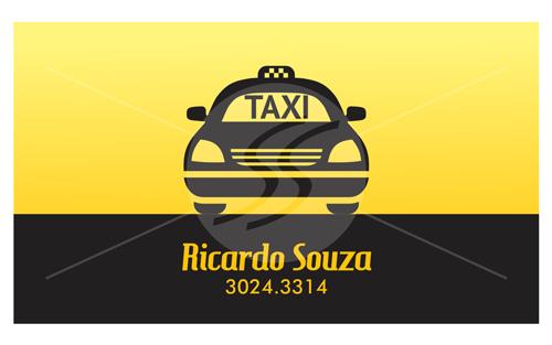 Cartão de Visita Taxista Preto com Amarelo