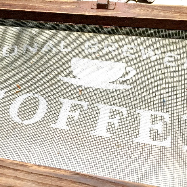 Vintage Screen Coffee Sign