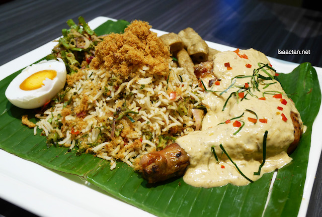 Nyonya Nasi Ulam with Ayam Percik - RM25.90