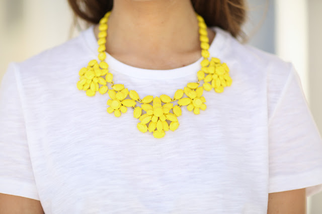 J.Crew yellow statement necklace
