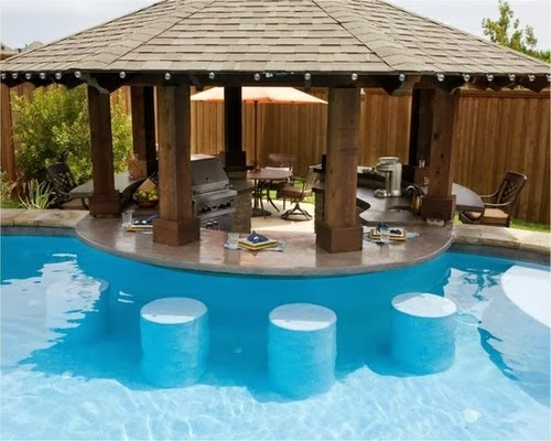 Penguin pools cocktail swimming pool design for Pool design with bar