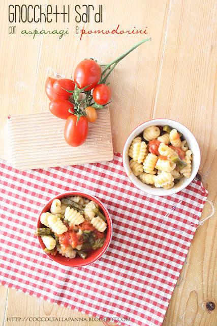 gnocchetti sardi asparagi pomodorini