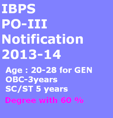 IBPS PO Recruitment 2013.