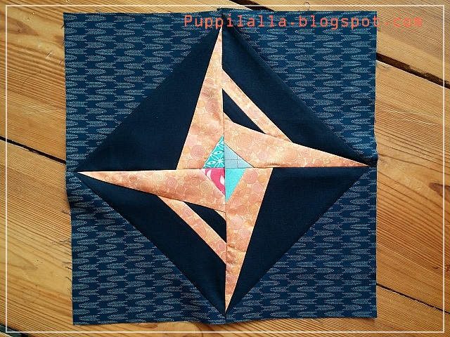 Summer Perseid Block, Puppilalla, Leland Ave Studios, Quilting bee, free block, patchwork