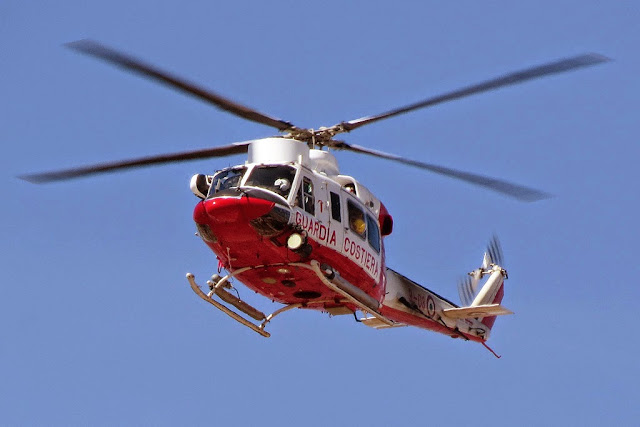 Bell 412 helicopter of the Coast Guard, Livorno