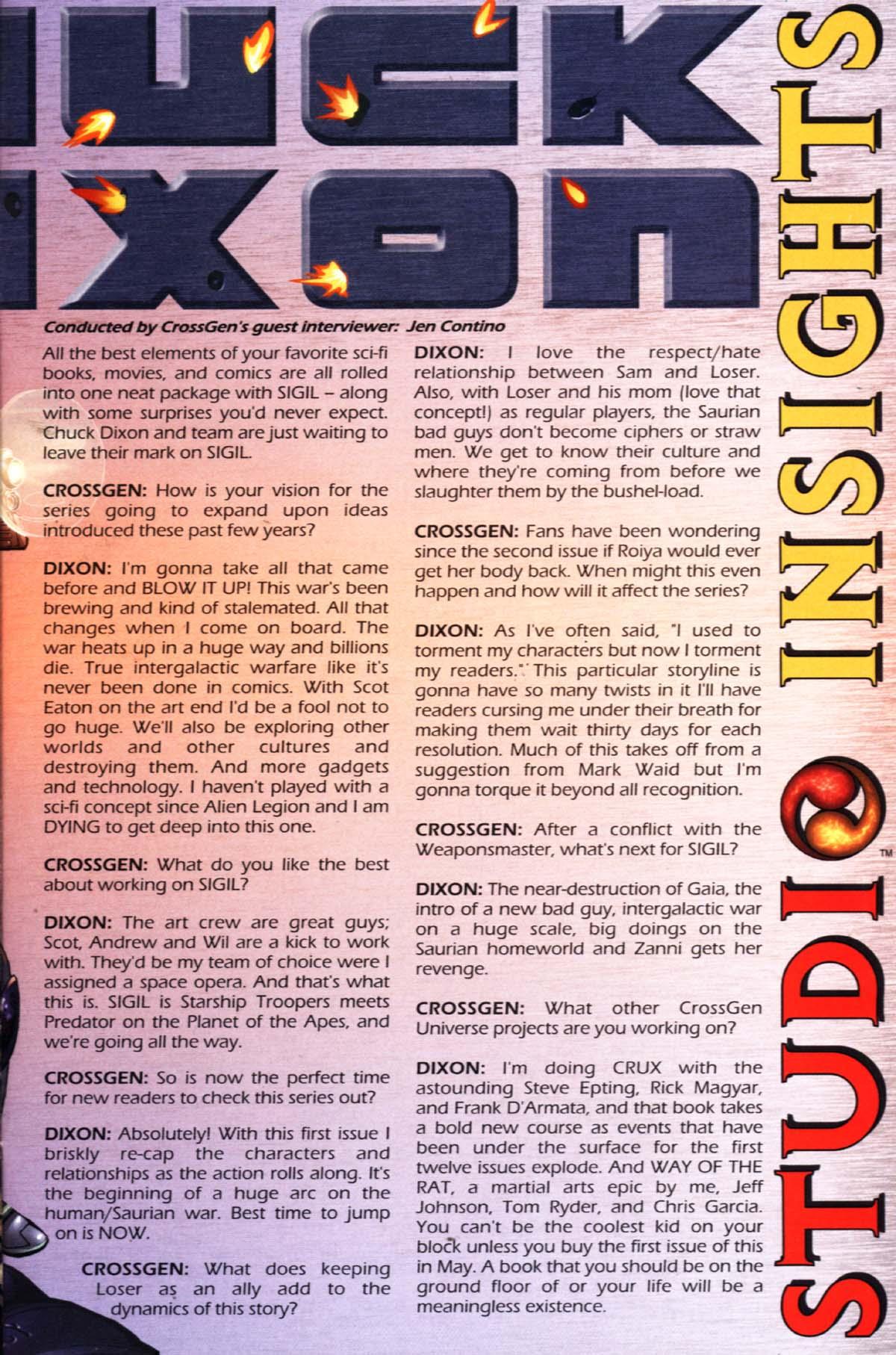 Read online Sigil (2000) comic -  Issue #21 - 31