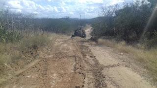 Prefeitura de Picuí inicia recuperação da estrada do Gravatá