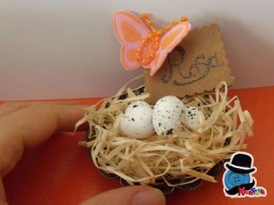 come realizzare un segnaposto decorativo con uova di polisterolo