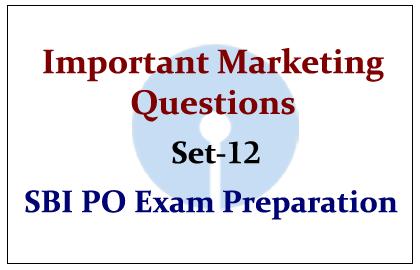 Important Marketing Questions- Set 12