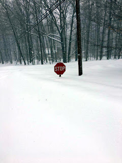 stop sign snowdrift fail