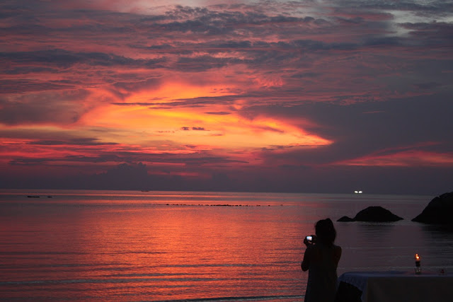 A typical sunset in Gulf of Thailand - here: Koh Pha Ngan, 2010