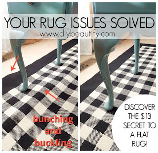 Discover the $13 solution that will keep your area rugs from bunching and buckling! Find it at diy beautify!