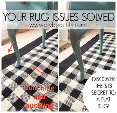 How to keep area rugs from buckling | diy beautify