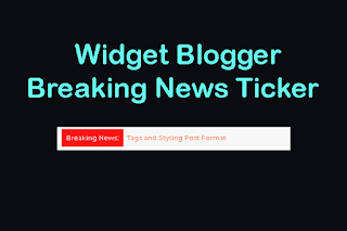 Widget Breaking News Ticker