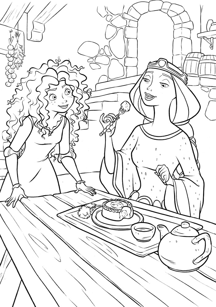 Brave coloring pages | Coloring Draw