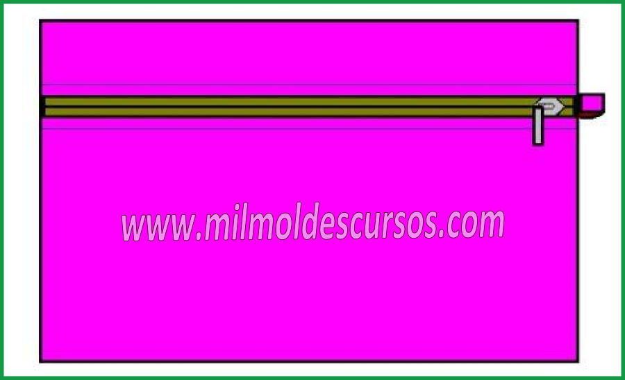 MOLDES GRATIS DE PORTACOSMETICOS CARTUCHERA