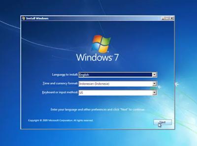 Teknik Cara Install Windows 7 Terbaru