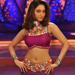 Tamanna Hot Navel Show Photos from RACHA