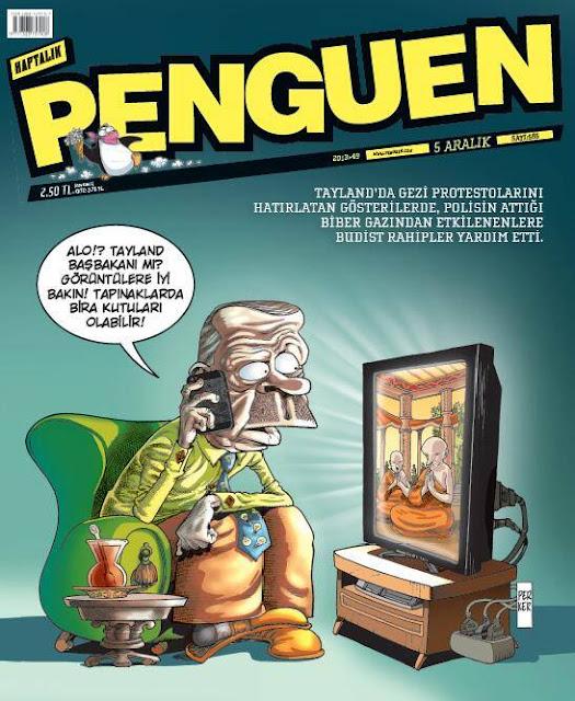 Penguen Dergisi - 5 Aralık 2013 Kapak Karikatürü