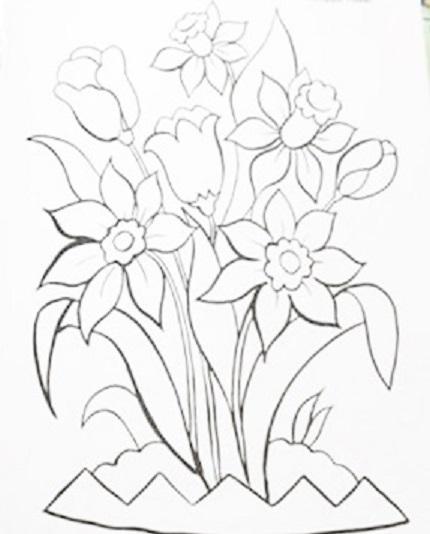 risco desenhos para pintar em pano de prato