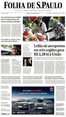 Folha oferece assinatura gratuita à professores da rede pública