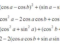 Trigonometri: Rumus Jumlah dan Selisih Dua Sudut
