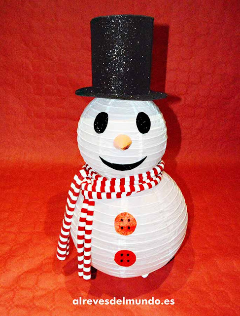 muñeco nieve navidad manualidades