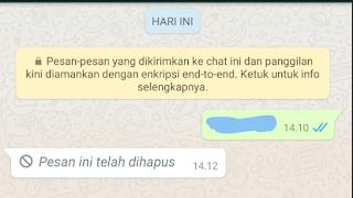 Cara Melihat Isi Pesan yang diTarik/Hapus Whatsapp