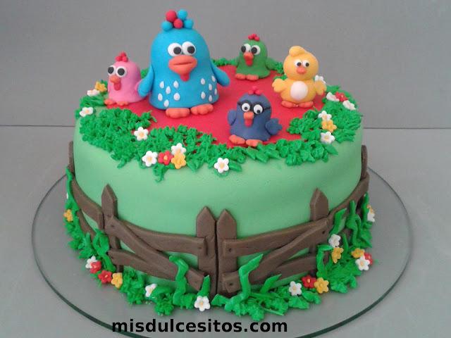 Tortas Gallina Pintadita. Tortas cumpleaños infantiles. Venta de tortas en Lima, Perú.