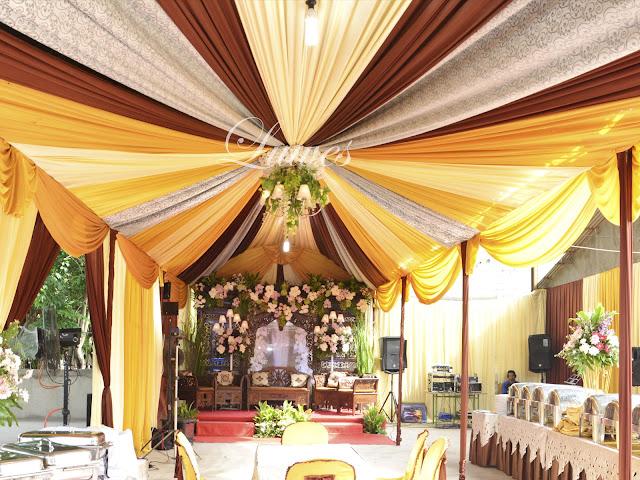 Tenda resepsi pernikahan modern minimalis