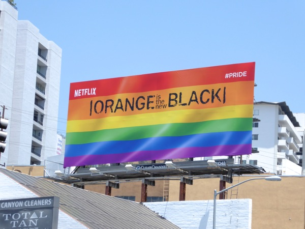 Orange is the New Black season 4 Pride Flag billboard