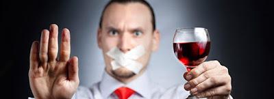interdit boire vin