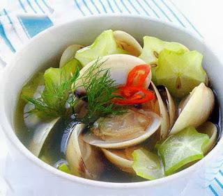 Món ăn ngon: Canh ngao nấu khế