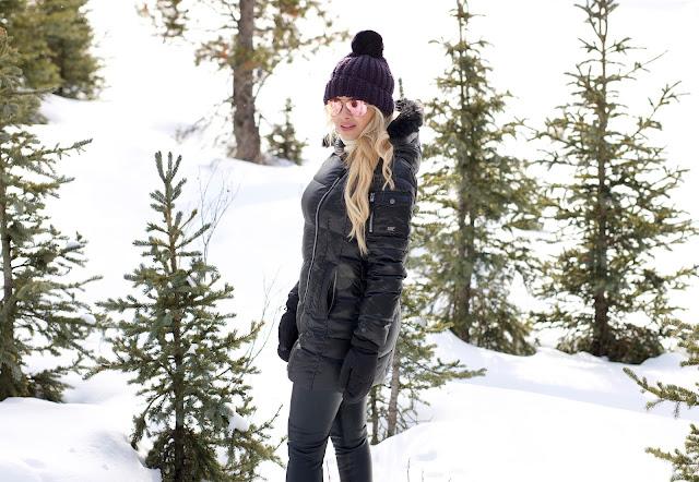 Erica Cook hiking at Mount Engadine Lodge