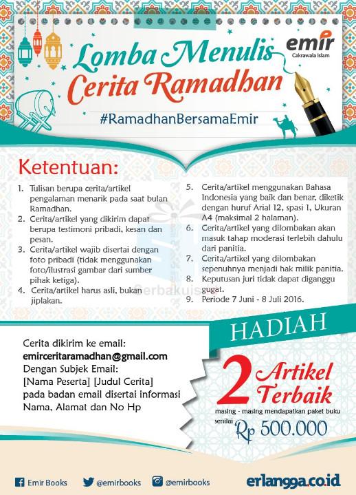 Lomba Menulis Cerita Ramadhan