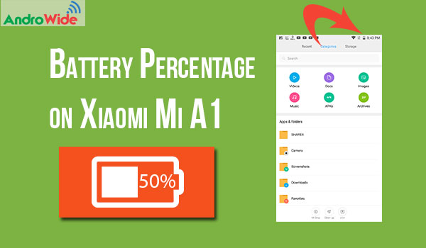 battery percent on xiaomi mi a1