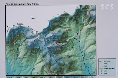 Mapa de la zona de la Laguna Negra, Soria by Susana Cabeza