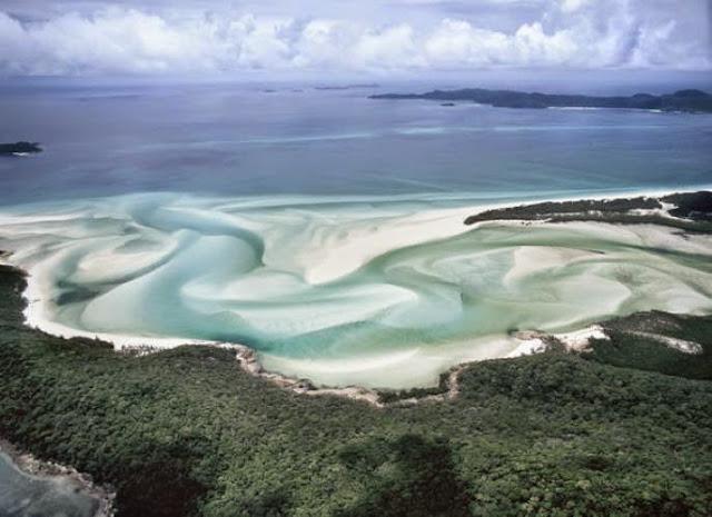 Whitehaven Beach en Australie.