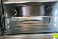 obere Schiene: Andrew James – 23 Liter Mini Ofen und Grill mit 2 Kochplatten in Schwarz – 2900 Watt – 2 Jahre Garantie