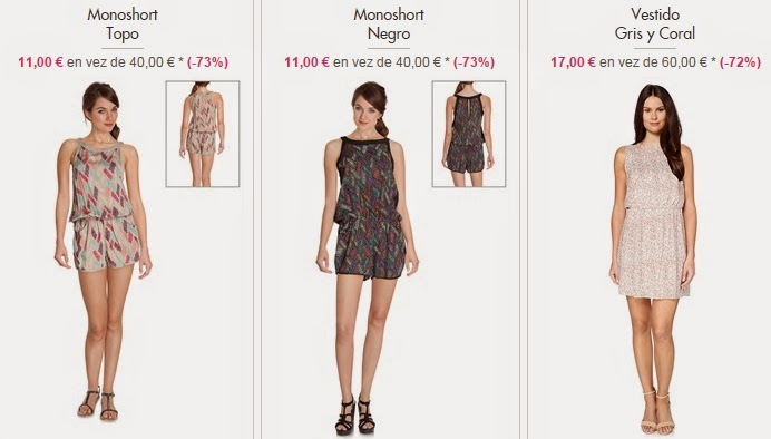 Monoshorts y vestidos