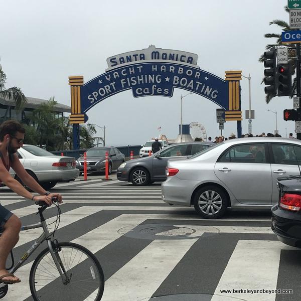entrance to Santa Monica Pier in Santa Monica, California