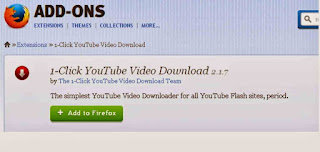 mozilla add-on for youtube video download