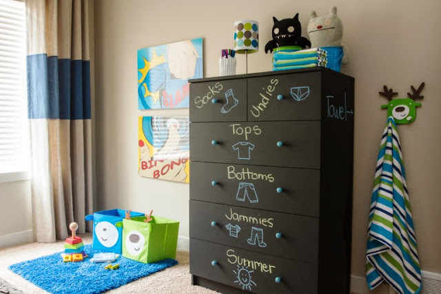 Pemberian tanda dan keterangan pada kamar anak