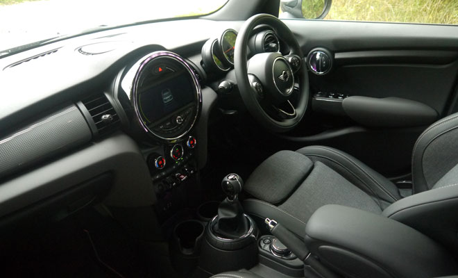 Mini Cooper D five-door front interior