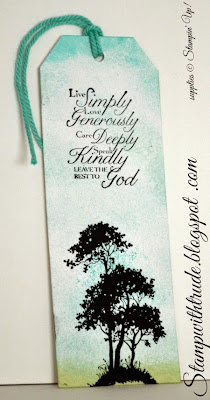 stampwithtrude.blogspot.com, Stampin' Up! bookmark, Serene Silhouettes, Trust God stamp sets
