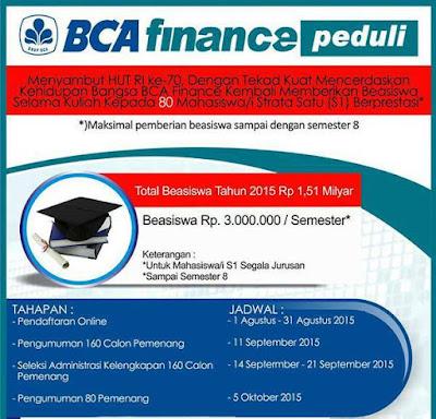 Beasiswa BCA Finance Peduli