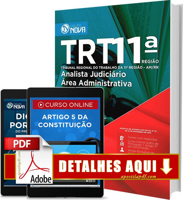 Apostila TRT 11 2016 Analista Judiciário Área Administrativa Impressa