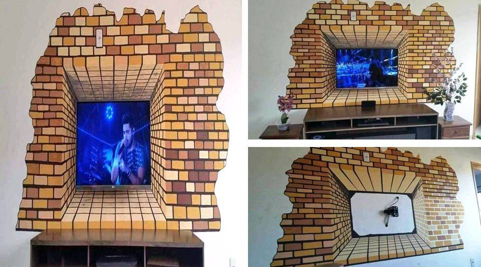 Amazing Creative Ideas Painting 3D Wall TV - Decor Units